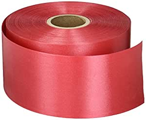 """Red Embossed Poly Satin Ribbon, 2-3/4"""" X 100 Yards"""