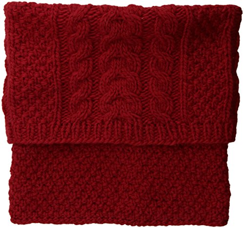 (Nirvanna Designs Sectional Neckwarmer with Fleece, Lipstick )