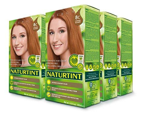 Naturtint Permanent Hair Color - 8C Copper Blonde, 5.6 fl oz (6-pack) by Naturtint