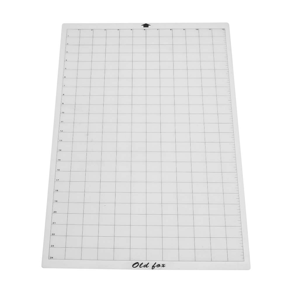 24 Inch for Silhouette Cameo Cricut Explore Plotter Machine 3pcs Walmeck Old Fox Replacement Cutting Mat Transparent Adhesive Mat with Measuring Grid 12
