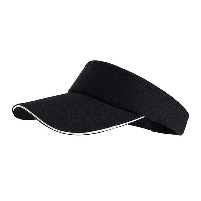 0910f1376e51d Summer Empty Top Hat Tennis Visor Cap Men Women Sun Hast Adjustable Casual  Golf Outdoor Sports