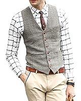Zicac Mens New Top Designed Casual Skinny Dress Wedding Vest Waistcoat