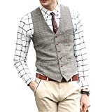 Zicac Mens Unique Advanced Custom Vest Skinny Wedding Dress Waistcoat