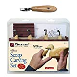 Flexcut FLEXKNL150-BRK & Deepwoods Small Spoon Bowl Cup Carver, Left-Handed Five-Piece Complete Woodcarving Scorp Knife Kuska Set
