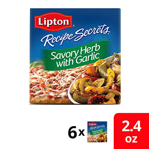 Lipton Recipe Secrets Soup and Dip Mix, Savory Herb with Garlic 2.4 oz, Pack of 6