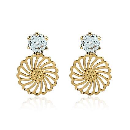 c6eeb32c38bf PLLP Joyas Novedosas  Personalidad Creativa Oreja de Diamante Hueca Aretes  Hermosos de Moda Europea