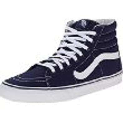 428d5eb116175f Image Unavailable. Image not available for. Color  Vans SK8-HI (Canvas) Patriot  Blue ...