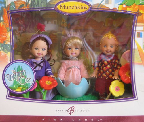 Barbie Wizard of Oz Munchkins KELLY Dolls & TOMMY Doll Pink Label Collector Set (2006) -