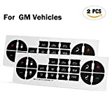 #1: GOOACC G0007A 2 Pcs AC Dash Button Radio Repair Kit-for Select GM Vehicles Gmc Chevy Buick Saturn-Fix Ruined Faded a/C Controls
