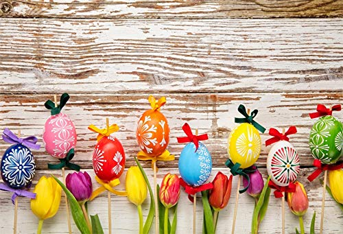 Leyiyi 10x8ft photography Background Happy Easter Day Backdr