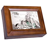 Cottage Garden Place 4x6 Photo Here You Are My Sunshine Dark Wood Finish Jewelry Music Box - You Are My Sunshine