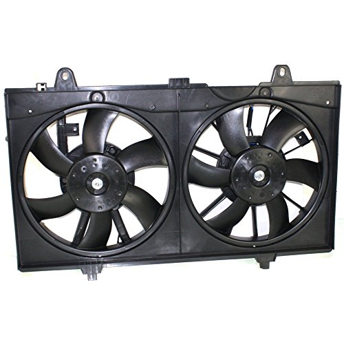 Radiator Fan Assembly for Nissan Sentra 07-12 Dual Fan Base/S/SL Models ()