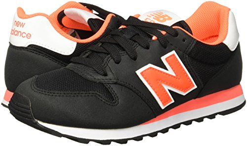 Balance New Donna arancione Classic W Custom Nero Sneaker Int fWZqgxF