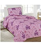 2 Piece Bedspread Princess Palace Quilt with Sham Twin Size