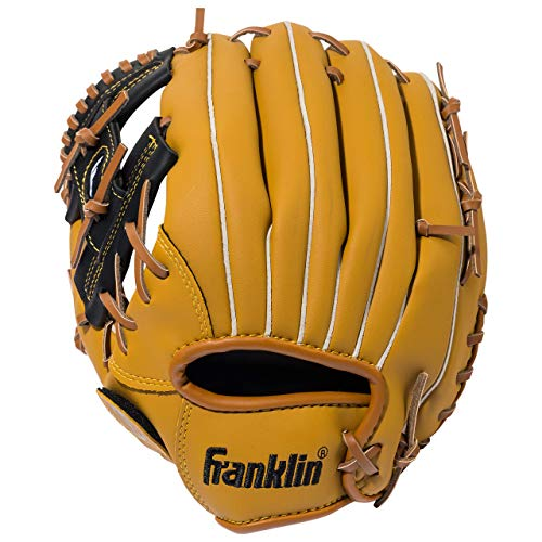 Franklin Sports Baseball Glove - Left and Right Handed Baseball and Softball Fielding Glove - Synthetic Leather Field Master Baseball Glove - 11 Inch Left Hand Throw (Renewed)