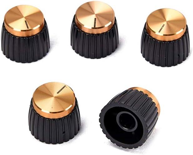 Healifty 5pcs guitare effet p/édale boutons damplificateur de commande dor capuchon poussoir sur les boutons correspond /à Marshall