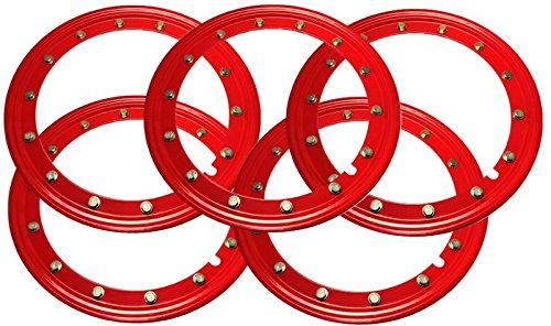 Simulated Beadlock Rings 15 inch - RED (Set of 5 - One for your spare wheel too!) (Rings Beadlock Outer)
