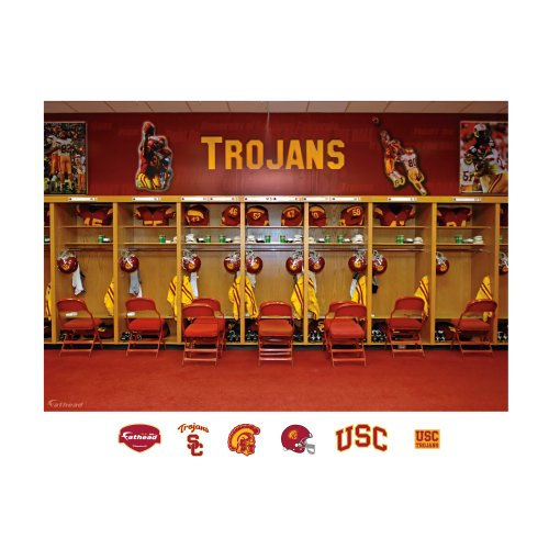 NCAA USC Trojans Locker Room Mural Wall Graphic by FATHEAD