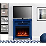 "Ameriwood Home Ellington TV Stand with Fireplace for TV's up to 32"", Navy"