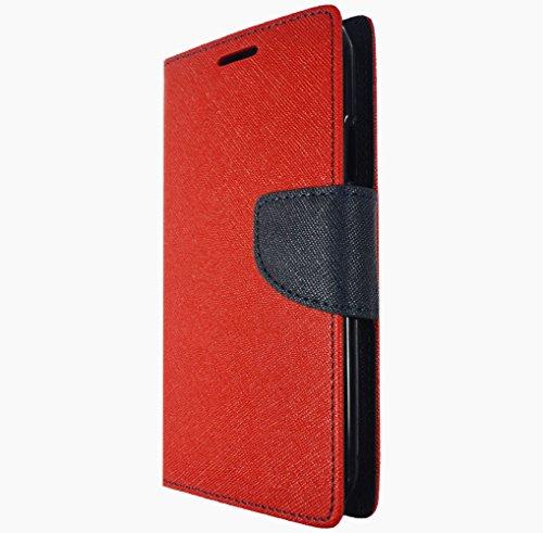 Für Apple iPhone 7 Handy Book Style Tasche Wallet Case Flipcover Schutz Hülle Klapp Etui Kartenfächer Magnetverschluss Drip Case Rot Blau