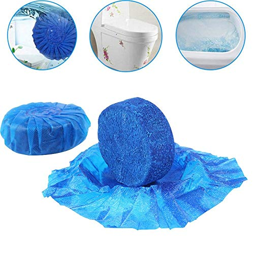Afazfa 2PC Automatic Toilet Bowl Antibacterial Cleaning Tabs Cleaner Deodorizer Blue (Blue)