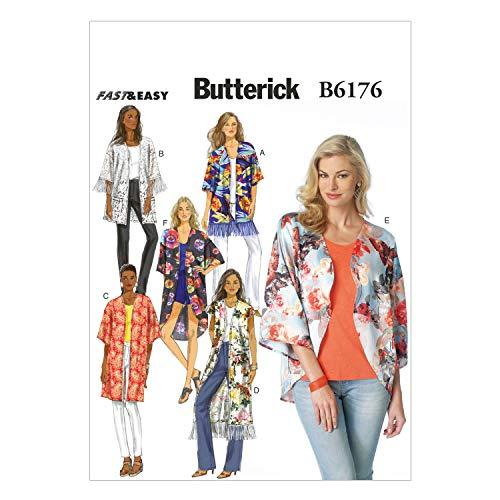 BUTTERICK PATTERNS B6176ZZ0 Misses' Kimono Sewing Template, ZZ (LRG-XLG-XXL) ()