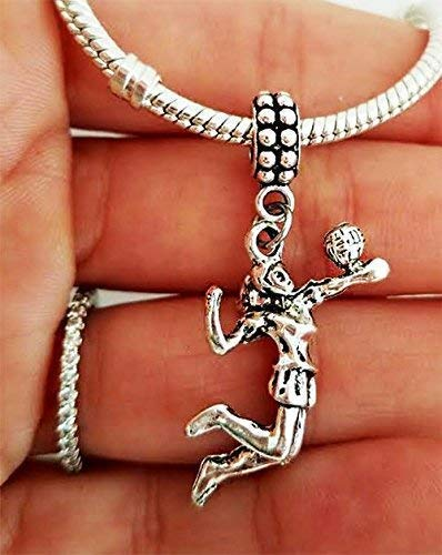 Volleyball Player Charm For charm bracelets and chain necklaces-Volleyball Jewelry gift for her women teens