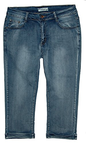 B.S Jeans Jeans - Capri - Femme Blue Used (Outwashed)