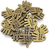 """Ruby - Ciondoli, etichette in metallo per artigiani con scritta """"hand made"""" N-1"""