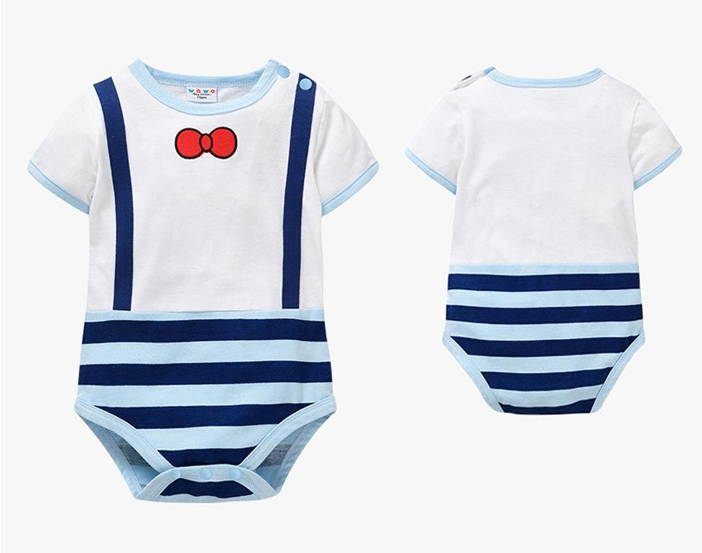 Il bambino adatta i neonati puro del cotone dei jeans triangolari del bambino di estate i vestiti 0-12 mesi , blue , 59cm HJXJXJX