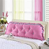 DW&HX cotton Bedside Reading pillow,Sofa Back cushion Long pillow Backrest positioning support pillow Bed backs-H 190x45cm(75x18inch)