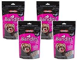 (4 Pack) Marshall Bandits Freeze Dried Rabbit Treats for Ferrets