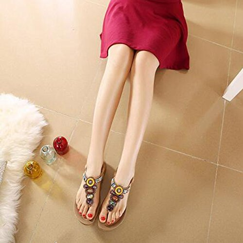 caviglia Aprikosen Donna alla Cinturino SUNAVY qnxpv7Pxw