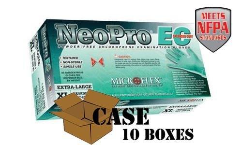 Microflex - NeoPro EC Powder-free Chloroprene Extended-cuff Gloves - Case - Size: Medium by Disposable Glove