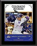 "Carlos Gonzalez Colorado Rockies Sublimated 10.5"" x 13"" Composite Plaque - Fanatics Authentic Certified"