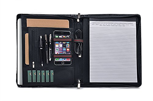 Leather Organizer Portfolio Notepad MacBook