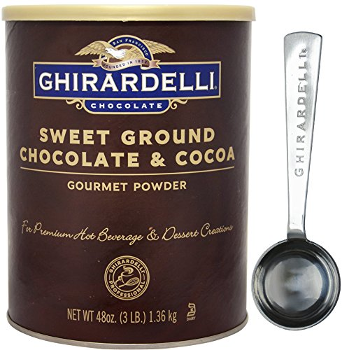 Ghirardelli - Sweet Ground Chocolate & Cocoa Gourmet Powder 3 lbs - with Exclusive Measuring (Ghirardelli Sweet)