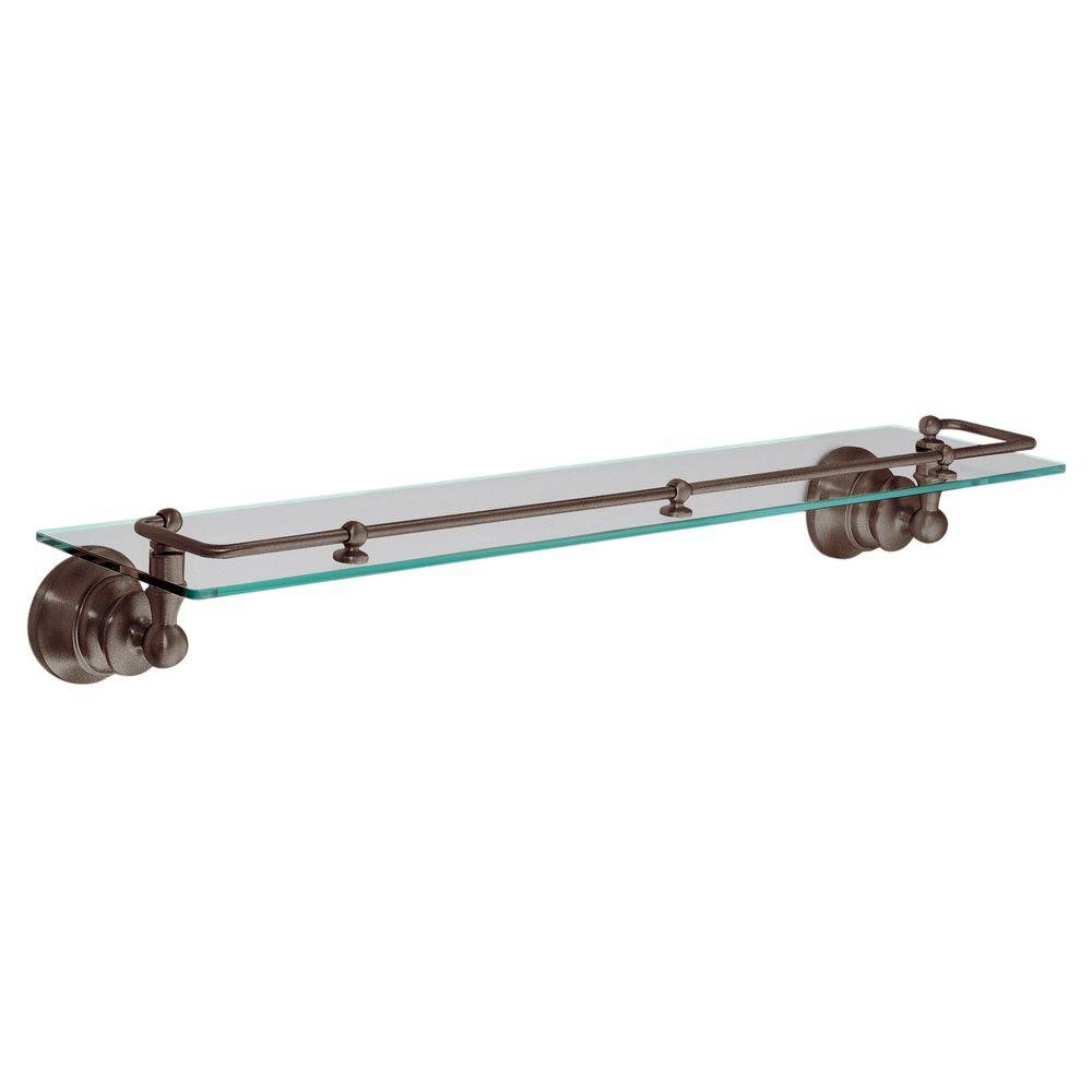 Moen YB9899ORB Waterhill Glass Shelf with Pivoting Rail, Oil Rubbed Bronze by Moen