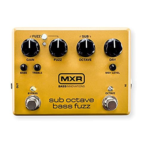 MXR M287 Sub Octave Bass Fuzz Guitar Effects Pedal (Bass Pedal Fuzz)