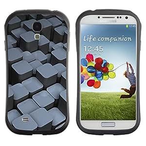 """Hypernova Slim Fit Dual Barniz Protector Caso Case Funda Para SAMSUNG Galaxy S4 IV / i9500 / i9515 / i9505G / SGH-i337 [Bloques""""]"""