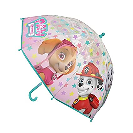 Patrulla Canina Skye Everest Marshall Niñas Niño paraguas transparente azul