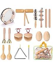 Kstyhome 13 adet çocuk el perküsyon enstrüman seti, taşınabilir çocuk müzik keşif müzik enstrümanları seti