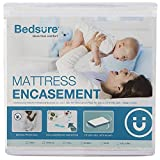 Bedsure 6 Sided Mattress Encasement Queen Size (9'- 12' Deep)- 100% Waterproof Mattress Protector, Zippered Mattress Cover, Breathable