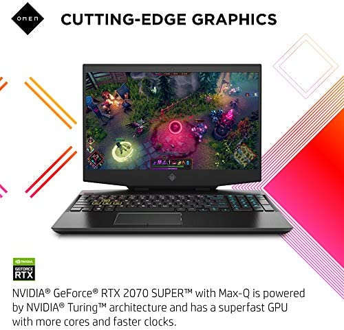 "OMEN 15 Gaming Laptop, NVIDIA GeForce RTX 2070 Super Max-Q, Intel Core i7-10750H, 32 GB DDR4 RAM, 512 GB PCIe NVMe SSD, 15.6"" Full HD 300Hz, Windows 10 Home, RGB Keyboard (15-dh1019nr, 2020 Model) WeeklyReviewer"