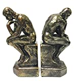 Bellaa 25594 Rodin The Thinker Statue Bookends Auguste Collectible Figurine