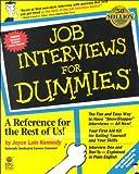Job Interviews for Dummies/Job Hunting for Dummies