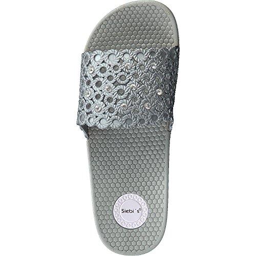 Siebis Rapallo Multi Zapatillas baño Mujer suave y antideslizante gris