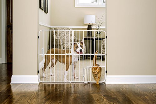 Carlson Extra Tall Metal Expandable Pet Gate (Carlson Extra Wide Gate With Small Pet Door)