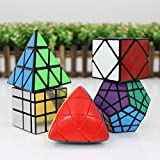 GoodPlay ShengShou Specific Speed Cube Puzzle Sets (Include Skewb, Megaminx Dodecahedron, Pyraminx ,mirror, Mastermorphix)--Pack of 5+five cube tripods
