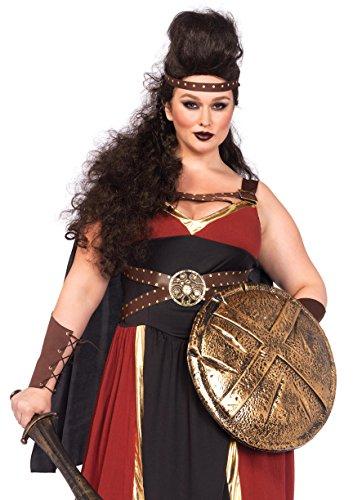Leg Avenue Women's Plus-Size 3 Piece Regal Warrior Costume, Multi, 1X